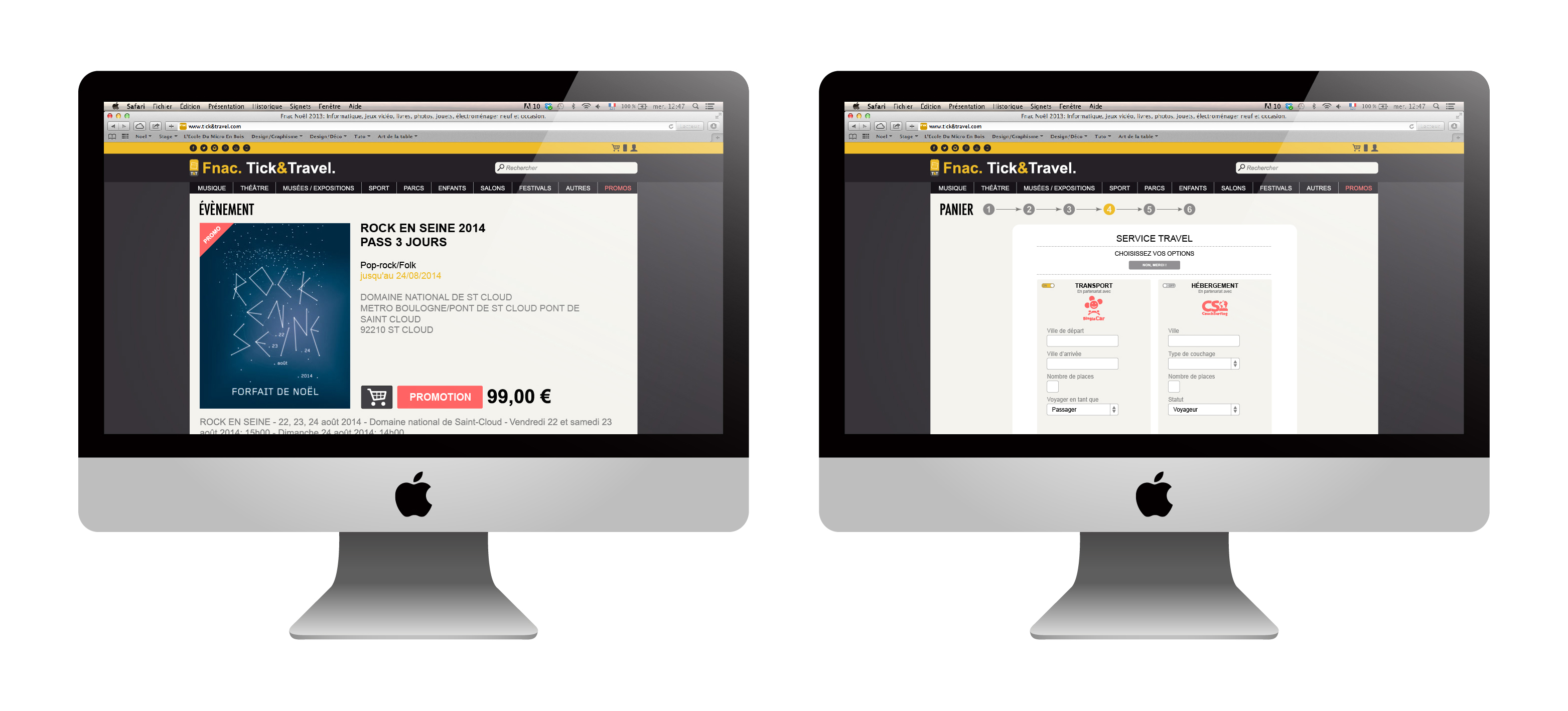 Jope design - FNAC TICK&TRAVEL - Site internet v2